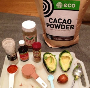 Chocolate avocado mousse - my pic 1 ingredients